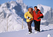 Couple on Winter Vacation stock image