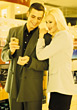 Couple Shopping For Perfume stock photography
