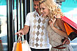 Couple Shopping stock photography