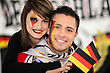 Couple Supporting The German Football Team stock photography
