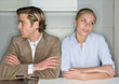 Angry Couple with Marital Problems stock photo
