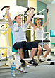 Couple Working Out In Gym stock photography