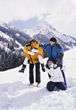 Couples on Winter Vacation stock photo