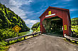 Covered Bridge Located In The Region Of Point Wolf New Brunswick Canada