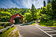 Covered Bridge Located In The Region Of Point Wolf New Brunswick Canada stock image