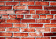 Cracked And Dangerous Brick Wall stock photo