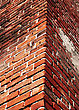 Cracked And Dangerous Brick Wall stock photography