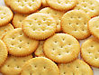 Crackers , Close Up Shot For Background stock photography