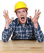 Craftsman In A State Of Shock stock image