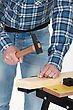 Craftsman Nailing stock photo