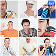 Craftsmen Mosaic stock photo
