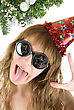 Crazy Pretty Festive Woman stock photography