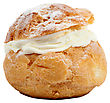 Cream Choux stock image