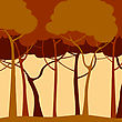 Creative Backround With Trees In Sepia