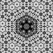 Creative Ornamental Grey Pattern. Geometric Decorative Background