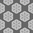 Creative Ornamental Mosaic Seamless Grey Pattern. Geometric Decorative Background