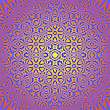 Creative Ornamental Pink Pattern. Geometric Decorative Background