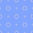 Creative Ornamental Seamless Blue Pattern. Geometric Decorative Background