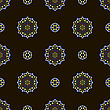 Creative Ornamental Seamless Dark Pattern. Geometric Decorative Background