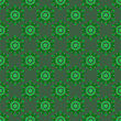 Creative Ornamental Seamless Green Pattern. Geometric Decorative Background