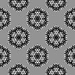 Creative Ornamental Seamless Grey Pattern. Geometric Decorative Background