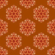 Creative Ornamental Seamless Orange Pattern. Geometric Decorative Background stock illustration
