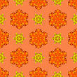 Creative Ornamental Seamless Orange Pattern. Geometric Decorative Background