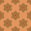 Creative Ornamental Seamless Red Pattern. Geometric Decorative Background