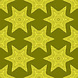 Creative Ornamental Seamless Yellow Pattern. Geometric Decorative Background