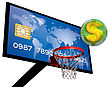 Credit Card On A Basketball With A Dollar Sign In A Green 3d Chrome Sphere