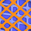 Crossed Lines Abstract Blue And Orange Cover Background