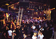 Crowd in a Night Club stock photo