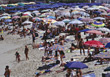 Crowded Beaches stock photography