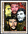 Philately CUBA - CIRCA 1977: A Postage Stamp Shows Image Ernesto Che Guevara And Dedicated To The 10th Anniversary Of The Day Of The Heroic Guerrilla, Circa 1977 stock image
