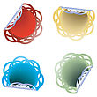 Customyzed Shape Stickers In Colors, Commercial Labels