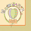 Cute Baby Shower Card With Animals And Toys stock illustration