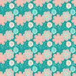 Cute Hand Drawn Flowers Seamless Pattern. Vector Illustration In Pastel Pink Colors