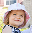Cute Little Girl in a Hat stock image