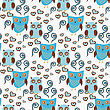 Cute Seamless Pattern With Owls Couple. Blue And Brown Owls. Vector Illistration