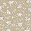 Cute Seamless Pattern With Sheeps, Vector Format stock illustration