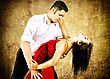 Cute Young Couple Dancing Latino stock image
