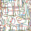 Cutlery Seamless Pattern, Abstract Art Background