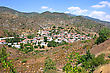 Cyprus Village In Mountains.