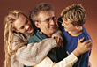 Dad with Children stock image