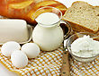 Dairy Products And Fresh Eggs stock photography