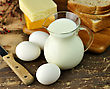 Dairy Products And Fresh Eggs stock image