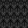Revival Damask Seamless, Abstract Grayscale Texture stock illustration
