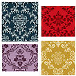 Damask Seamless Backgrounds Set