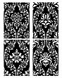 Damask Seamless Black & White Backgrounds Set