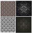 Damask Seamless Color Pattern Set. For Easy Making Seamless Pattern Just Drag All Group Into Swatches Bar, And Use It For Filling Any Contours. Fully Editable EPS 8